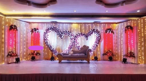 Heart Themed Wedding Stage