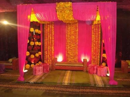 Mehndi/Haldi Wedding Stage