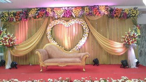 Golden Themed Wedding Stage