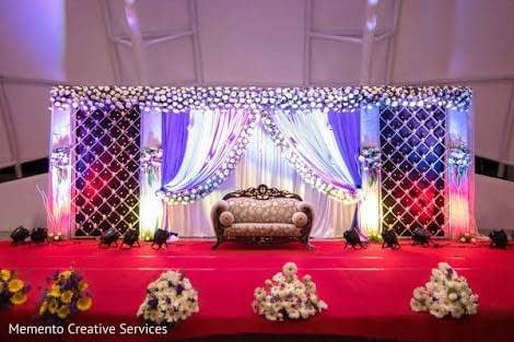 Checkered Wedding Stage